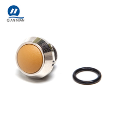 12mm 2pin yellow button momentary short body stainless steel push switch