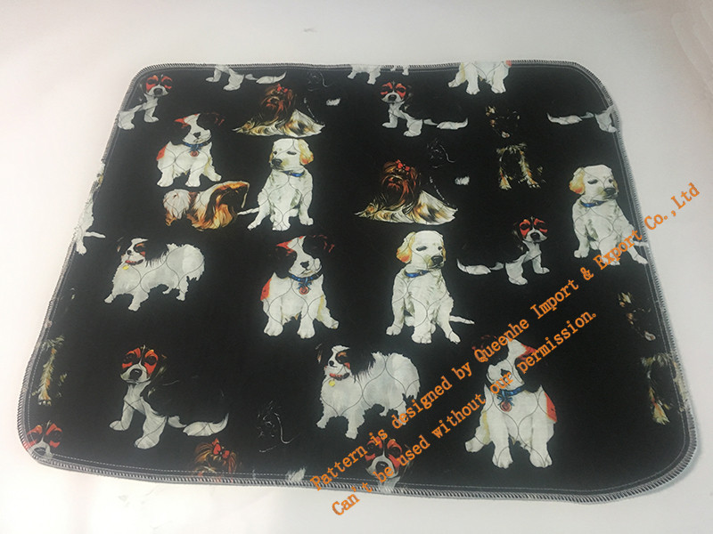 Dog Training Pad / Pet Washable Pee Pads with Polyester Peach Skin
