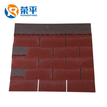 Red asphalt 3 tab roofing shingles prices for building waterproof materials