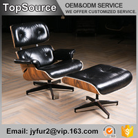Home Relax Used Style Black Leather Chaise Lounge Furniture For Sale