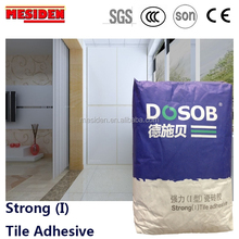 Flexible high bonding concrete tile adhesive for floor tile