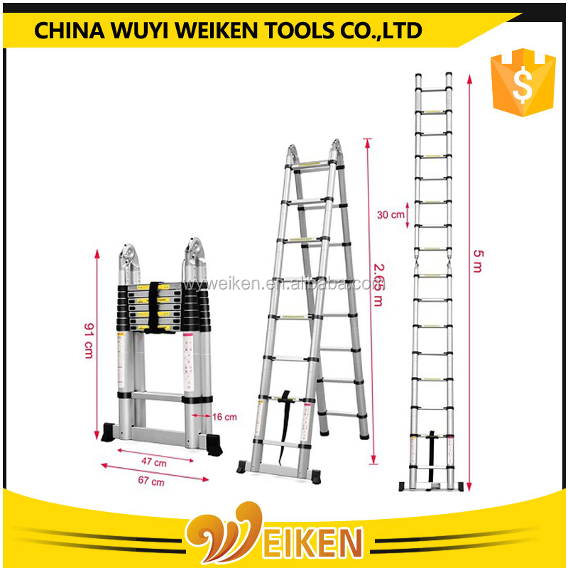 folding a frame ladder, telescopic ladder 5m prices