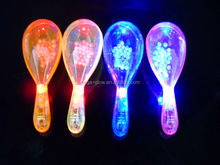 Super Transparent Plastic Led Flashing Maracas