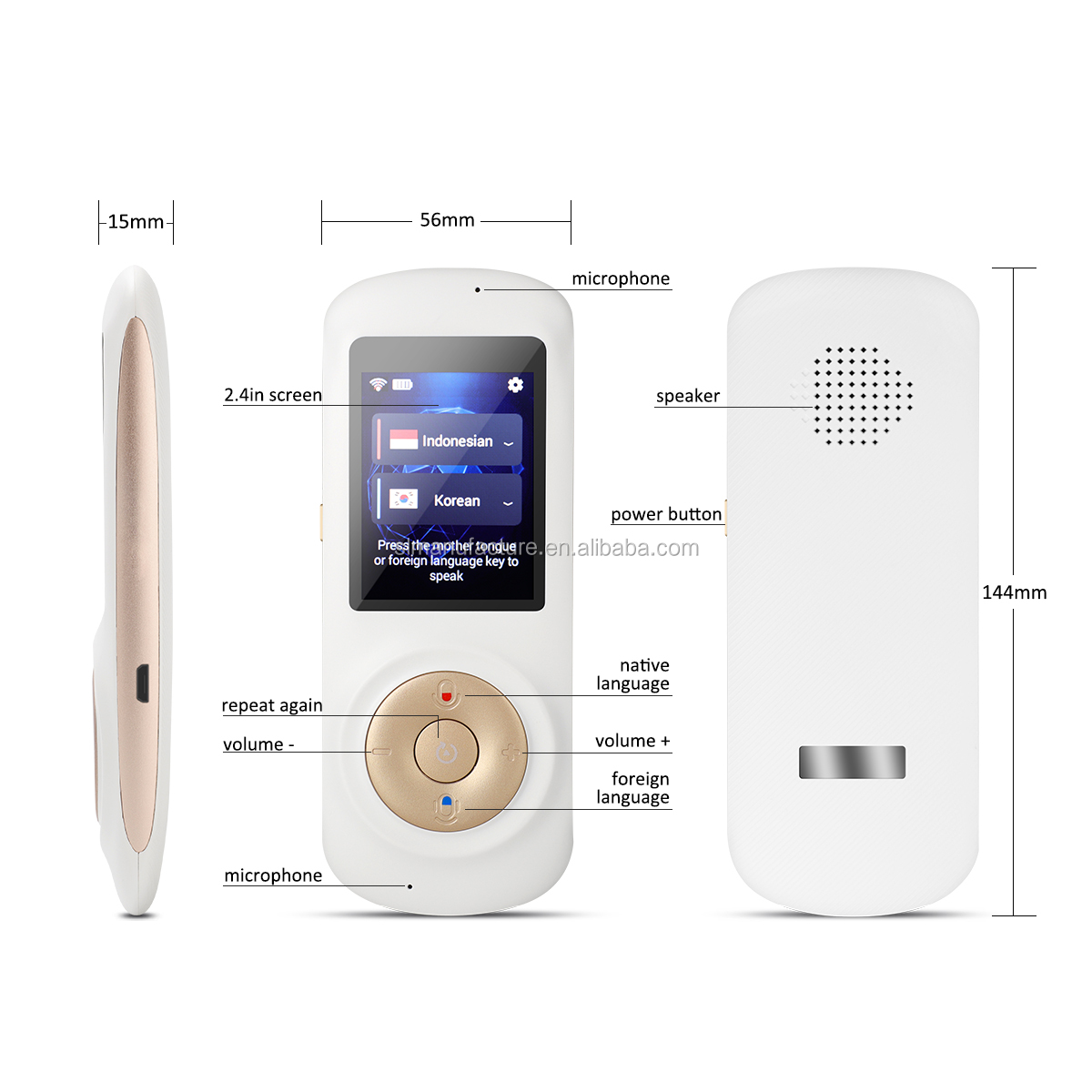 New 52 Languages Simultaneous Interpreting 4G Wifi Wireless Interpretation Best Pocket Language Translator