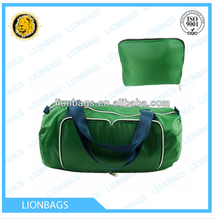 Hot sale athletic 600d polyester sport foldable duffel travel bags