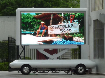 LED truck display /mobile screen LED trailer screen /led video food advertising trailer