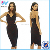 Women Elegant Fashion New Summer Black Lace Knee-length Midi Dress Party Bodycon Dress