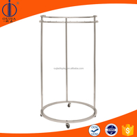 Mirror polished stainless steel round shelf, round metal rack