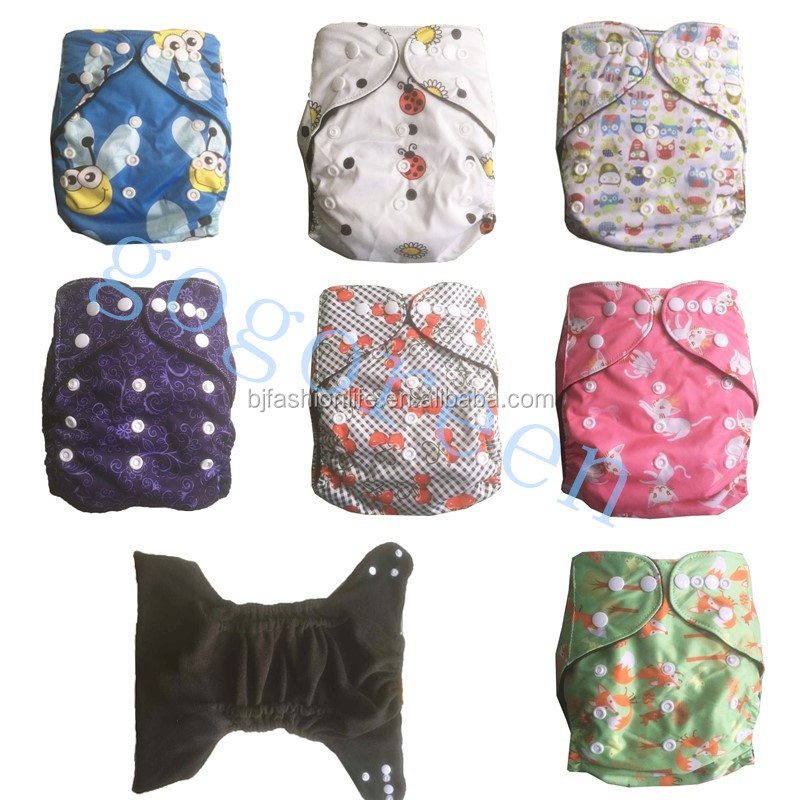 Bamboo Charcoal Baby Reusable Cloth Pocket Diaper Covers All in One Size Nappy classical cloth diaper / OEM free sample
