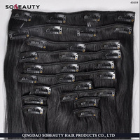 Wholesale Clip In Hair Extension Factory Price Real Tangle Free