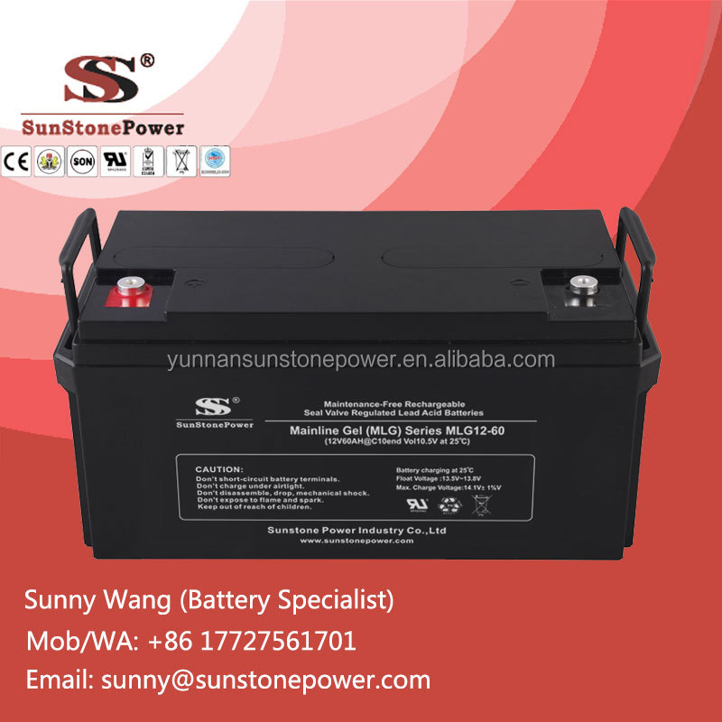 12V 60AH IEC standard sealed lead acid VRLA battery for electric powered vehicle and toys