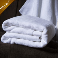 Made in china custom high quality white woven hotel bathroom bath towel terry cotton towel