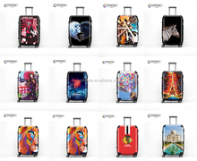 ABS PC Hard Shell 16 19 20 24 28 Inch Carry-on Suitcase Personalised Printed Cabin Trolley Luggage