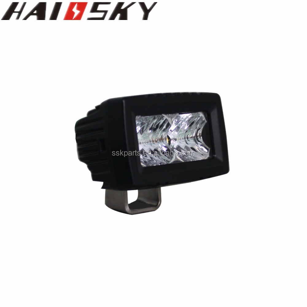 HAISSKY 2inch 10w Led Light Bar Single Row Slim Flood Work Driving Offroad 4WD