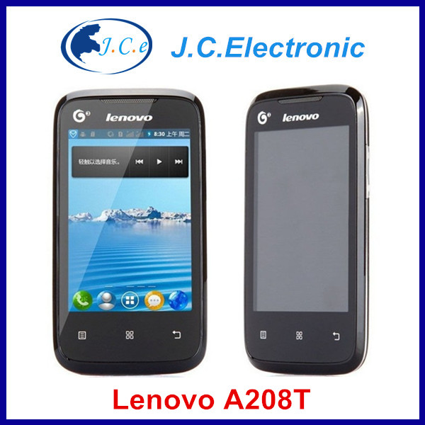 Original Lenovo A208T 3.5 inch Android 2.3 Smart Phone SC8810T Single Core 1.0GHz Phone GSM & TD-SCDMA Network 1300mAh Battery