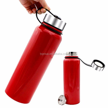 NEW Vacuum Insulated Stainless Steel Water Bottle w/Flip Lid,Wide Mouth double walled stainless steel water thermo bottle flask