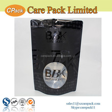 Moisture ziplock stand up pouch custom printed aluminum foil coffee bag with valve