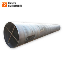 Steel grade L245 L290 spiral seam double surface submerged arc steel pipe, carbon steel black spiral tube