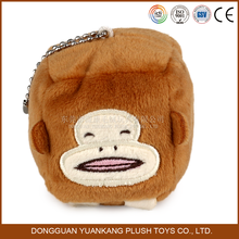Wholesale Monkey Plush Toy,Cube Monkey Keychain for Girl