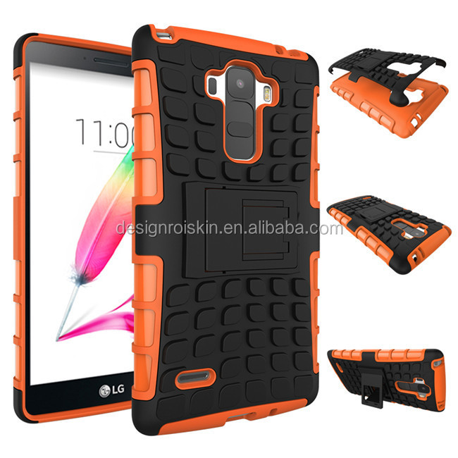 new arrival soft tpu and rubberized pc case for LG G Stylo with plastic kickstand