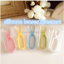 2016 Hot selling Practical Flexible Silicone Contact Lens Tweezers