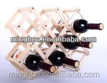 Folding wood wine rack alcohol neer care drink bottle holders