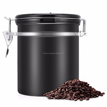 Stainless Steel Vacuum Sealed Black Kitchen Storage coffee Canister 16OZ RED