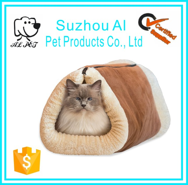 Comfortable Pet Accessories Portable Folding Cat Bed and Cat Cave