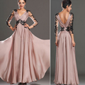 W71684G 2016 new fashion elegant embroider v-neck backless lace evening dresses maxi dress for women