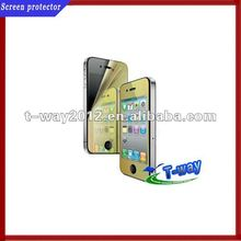 Gold mirror screen protectors for iphone 4