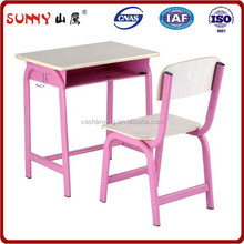 colorful school furniture set single seat desk