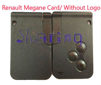 Renault Megane 3 Button Remote Smart Card Without Logo 3 Button Remote Smart Card Without Logo