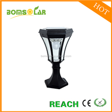 High quality outdoor garden lantern/led solar post fence ligth for garden