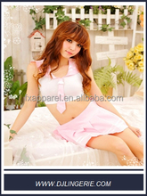 spread collar pink sexy sexy student uniform private school sexy girls costume