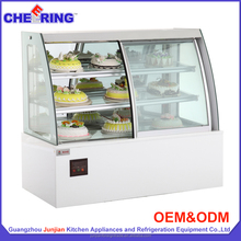Restaurant equipment refrigerated bakery display cakes case with factory price