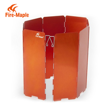 Fire Maple Outdoor Equipment 8 Sections Aluminum Wind Shield Beach Camping Wind Screen Foldable Wind Screen