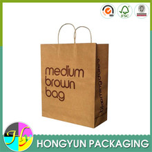 2015 craft paper cheap recycled shopping bag wholesale