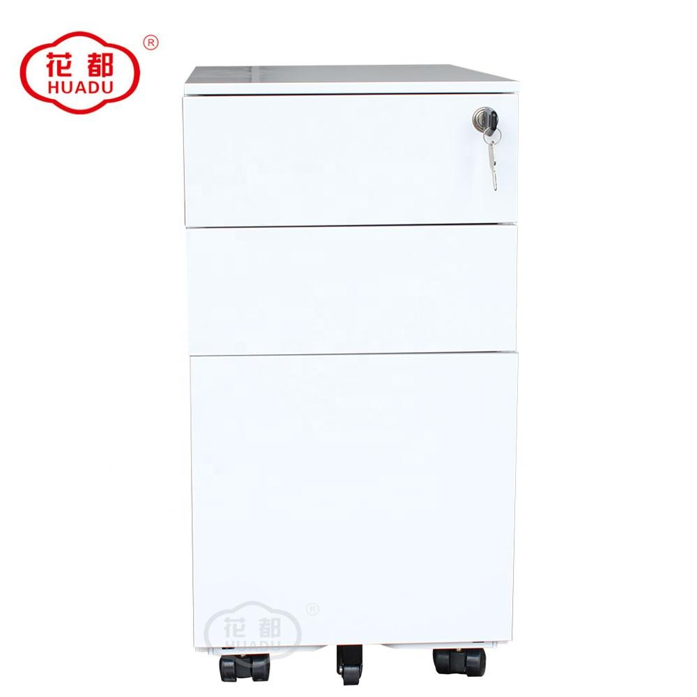 china made furniture steel archives mobile shelving metal movable compactor 3 drawer mobile pedestal filing cabinet