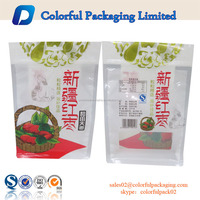 New style zipper side gusset pouch plastic packaging bag for Chinese date