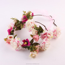 Fashion mother and daughter seaside holiday flower hairband hawii flower headband set