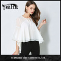 chiffon pullover batwing irregular loose casual new design blouse for women
