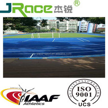 Full PU Athletic field Synthetic rubber running track tartan track