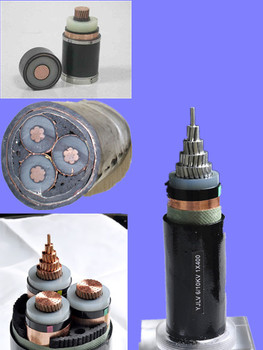 8.7/10, 8.7/15kV 3-core XLPE insulated PVC sheath Aluminum high voltage cable