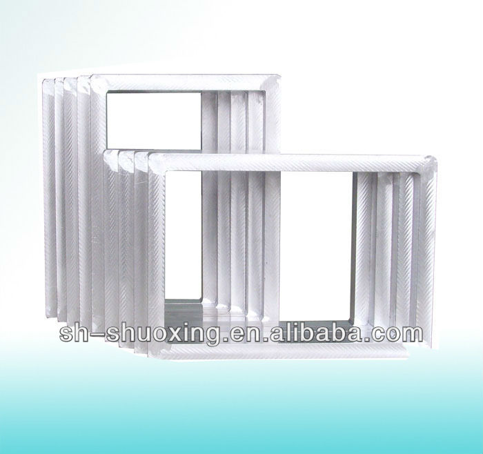 Aluminum screen printing frame, make screen printing frame