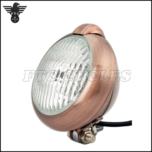 Classic Vintage Bronze Motorcycle Headlight for Triumph Scrambler