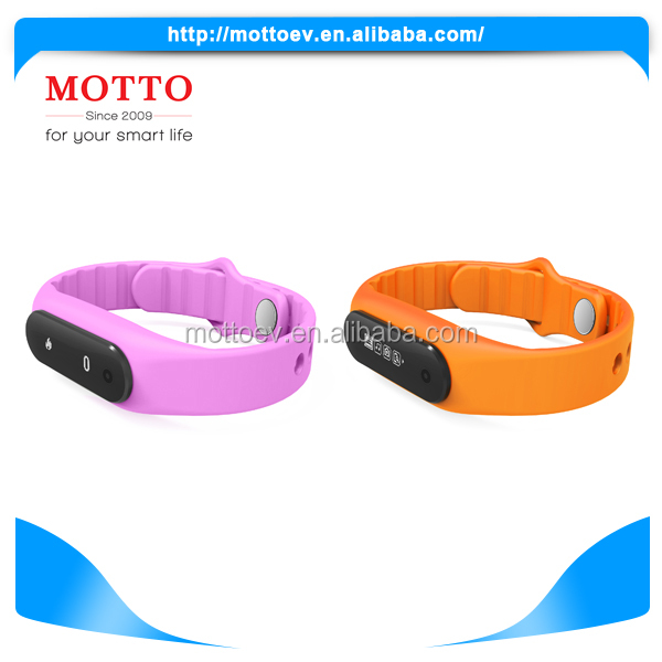 New Products Hot Sell Fashion Pedometer Wristband For Ios And Android Smart Phone