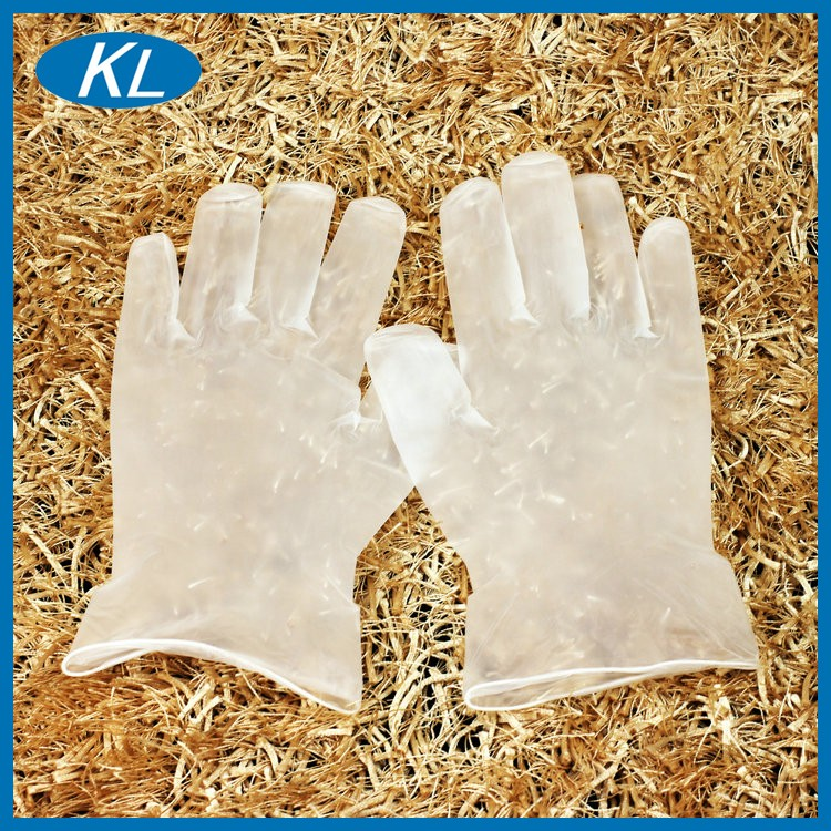 China wholesale disposable grime and water resistant work vinyl gloves powder free and powdered