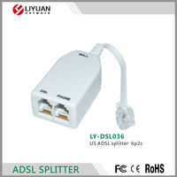 LY-DSL036 adsl connector 6p2c ADSL splitter