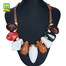 Promotional cheap fashion necklace designs african tassle necklace