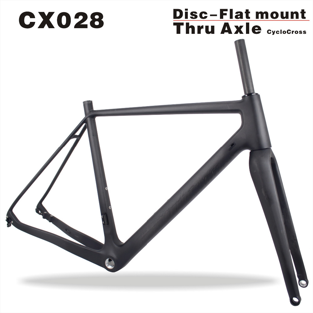 Miracle Popular Carbon Fiber cyclocross bike,carbon cyclocross frame 142*12mm rear thru axle cyclocross carbon bicycle frame